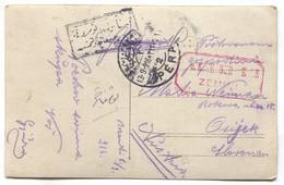 AUSTRIA HUNGARY WW1 - K.u.K. FELDPOST, MILITARY LAGER BOZANTI ARMENIA TURKEY 1916. AVION TRUCK / SEAL PERA,  FOR CROATIA - WW1