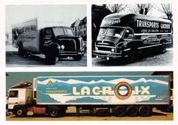 LONS-le-SAUNIER - Transport Lacroix - Carte Publicitaire - Camions, Semi-Remorque - La Vache Qui Rit - Lons Le Saunier