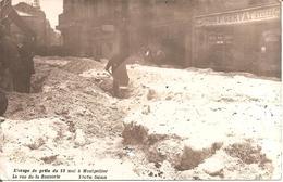 MONTPELLIER (34) Carte Photo De L'Orage De Grêle Du 13 Mai 1922 - La Rue De La Saunerie (devant Magasin Cycles GERVAT) - Montpellier