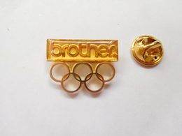Beau Pin's , JO , Jeux Olympiques  Albertville 1992 , Brother , Non Signé - Olympic Games