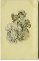 M.M. VIENNE SIGNED POSTCARD 1900s - WOMEN & FLOWERS (BG393) - Vienne