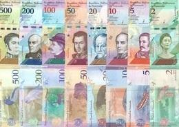 VENEZUELA  Set (8v) 2,5,10,20,50,100,200,500 Bolivares Soberanos 2018 P 101 - 108 UNC - Venezuela