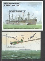 V129 ST. VINCENT MILITARY SHIPS OPERATION OVERLORD D DAY AIRCRAFT BATTLE OF THE JAVA SEA WORLD WAR II 2BL MNH - WO2