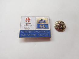 Beau Pin's , JO , Jeux Olympiques  Albertville 1992 , Crédit Lyonnais Dauphiné Savoie , Non Signé - Olympic Games