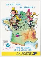 CPSM / CPM 10.5 X 15 Illustrateur / Dessinateur FRANQUIN Gaston LAGAFFE Tour De France 1994 En Périgord * - Bandes Dessinées