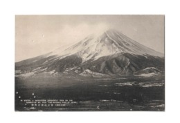 Vintage Postcard Of Winter Snow Storm On Mount Fuji, National Park, Japan, Lot # ETS 994 - Giappone