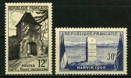 FRANCE       N° Y&T  921 Et 922  * - Ungebraucht