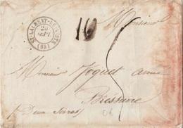 HAUTE PYRENEES - LETTRE DE ST LAURENT DE NESTE POUR BRESSUIRE - 1850 - Marcophilie (Lettres)