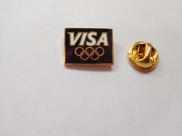 Beau Pin's , JO , Jeux Olympiques  Albertville 1992 , Visa , Signé USOC 96 - Olympic Games
