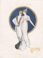 """Carte 2 Volets 11,5x15 . Pub MAGASINS DU PRINTEMPS Toulouse (31) MODE  """"Nouveautés D'hiver 1912 """" Ilust Art Nouveau - Reclame"""