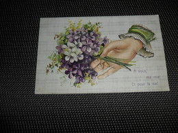 Main ( 38 )     Hand  Carte Gaufrée  Reliëf - Fantaisies