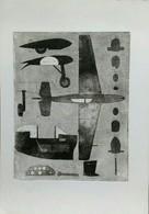 Planes 1  Original Radierung Etching Hand Signed - Lithographien