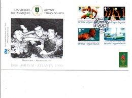 ILES VIERGES BRITANNIQUES 1995 FDC J O ATLANTA - Iles Vièrges Britanniques