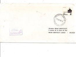 NOUVELLE ZELANDE 1974 LETTRE DE LA BASE SCOTT POUR LA FRANCE - Lettres & Documents