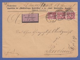 Dt. Reich 10 Pfennig Mi.-Nr. 41 Per 3 Auf NN-Brief Von Schwerin -> Parchim, 1889 - Germany