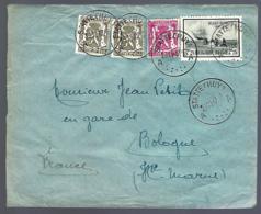 LETTRE EN PROVENANCE DE HUY - 1947 - POUR BOLOGNE - BELGICA ANTARCTIS - - Belgique