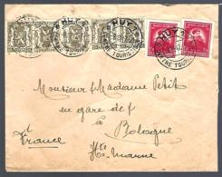 LETTRE EN PROVENANCE DE HUY POUR BOLOGNE - 1947 - - Belgique