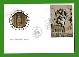 (St) Vaticano- FDC ROMA.LUXOR ( FOGLIETTO )-1995 - CENTENARIO SANTUARIO  Di LORETO. - FDC