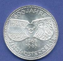 Österreich 50-Schilling Silber-Gedenkmünze 1963, 600 Jahre Tirol Bei Österreich - Austria