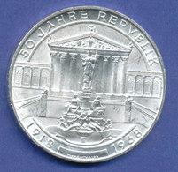 Österreich 50-Schilling Silber-Gedenkmünze 1968, 50 Jahre Republik Österreich - Austria