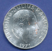 Österreich 50-Schilling Silber-Gedenkmünze 1971, Julius Raab - Austria