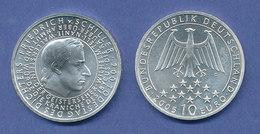 10-€-Gedenkmünze 200. Todestag Friedrich Von Schiller 2005, Stempelglanz - [ 7] 1949-… : FRG - Fed. Rep. Germany
