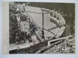 (1964) AVENE - Construction Du Barrage  - Coupure De Presse Originale (encart Photo) - Documents Historiques