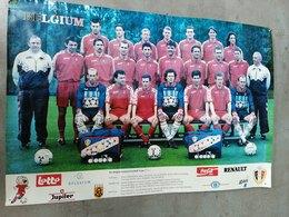 Football Diables Rouges Van Himst  Preud'homme Wilmots Scifo Grun Nilis Degryse Czerniatynski Emmers Albert .. Vers 1992 - Afiches