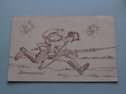 STORMAANVAL () Anno Stamp 1917 Westkapelle ( Zie/voir Foto Voor Details ) ! - Humor