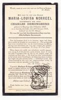 DP Maria L. Norreel ° Boezinge Ieper 1865 † 1935 X Charles DeHonghere - Images Religieuses