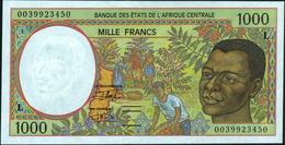 CENTRAL AFRICAN STATES - 1.000 Francs 2000 {Gabon ~ L} UNC P.402 Lg - Zentralafrikanische Staaten