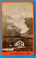 Chamonix Vers 1875 * Pont De Pirolataz, Auberge De Voyageurs * Photo Albumine Gabler - Voir Scans - Photographs