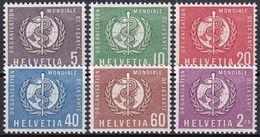 SCHWEIZ 1957 Mi-Nr. OMS / WHO 26/31 ** MNH - Dienstzegels
