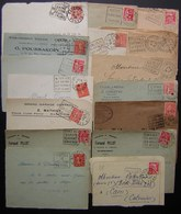 Daguin: Lot De 16 Devant De Lettres Avec Daguin, Dont Un Avec Timbre Perforé (Cluses Station Climatique Tourisme) - 1921-1960: Modern Period