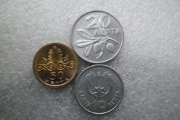 Greece 10 , 20 And 50   Lepta 1973 UNC - Griekenland