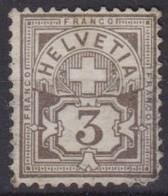 SUISSE 1894:  Le ZNr. 59B, Neuf (*) - 1882-1906 Wapenschilden, Staande Helvetia & UPU