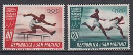 SAN MARINO - Michel - 1955 - Nr 527/28 - MH* - Poste Aérienne