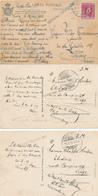 408/29 - Ensemble De 6 Cartes-vues Du Luxembourg 1919 , Avec Censures Belge D' ARLON - Divers Nos De Censeurs - 1914-24 Marie-Adélaïde