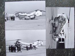 3 Fotografie ELICOTTERO VERTOL 44 ELIPADANA A MALPENSA 1959 Ex SABENA - Aviation