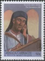 Giovanni Boccaccio Starts Writing The DECAMERON In 1348, Black Death / Plague, Italian Writer, MNH, Grenada / Carriacou - Enfermedades