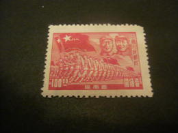 K8604- Stamp  No Gum As Issued  China- Sout-West- 1949- SC. 8L5- Chu Teh Mao And Troops- $100 Carmine - China Del Sur 1949-50