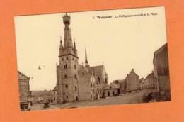 CPA * * WALCOURT * * La Collègiale Restaurée Et La Place - Walcourt
