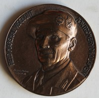 Médaille Bronze Field Marshal Viscount Montgomer Of Alamein Guerre WW2 Pierre Turin MCMXLVI 1946 - Autres