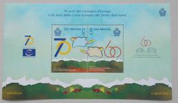 San Marino 2019 70th Ann.Council Of Europe - 60th Ann.Europe Court Of Human R. - Europese Gedachte
