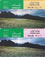 United Arab Emirates (UAE), Magnetic Early Pictorial Phone Card, (2-cards Of Dh 30 & 60) - United Arab Emirates