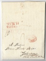 REGNO DI NAPOLI - DA NAPOLI A FABRIANO - 11.3.1834. - Italia