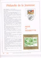 FEUILLET D'ART 500 EXEMPLAIRES, OR FIN 23 CARATS : Bob Et Bobette. 1987 - Comics