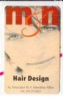 GREECE - Girl, M&N Hair Design, Power Phone Promotion Prepaid Card, Tirage 1000, Exp.date 30/07/03, Mint - Advertising