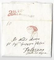 REGNO DI NAPOLI - DA NAPOLI A FABRIANO - 22.12.1835. - Italia