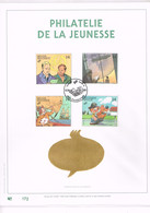 FEUILLET D'ART 500 EXEMPLAIRES, OR FIN 23 CARATS : Carnet Philatélie De La Jeunesse 1991. - Comics
